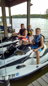 Jet Skiing for the whole family